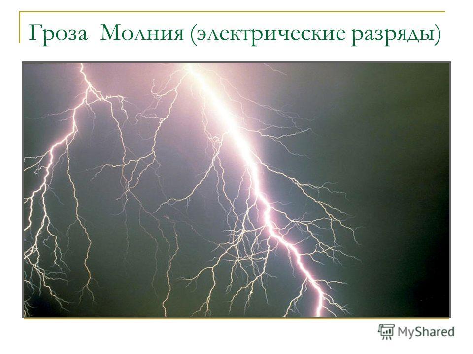 Гроза Молния (электрические разряды)