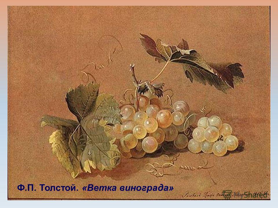 Ф.П. Толстой. «Ветка винограда»