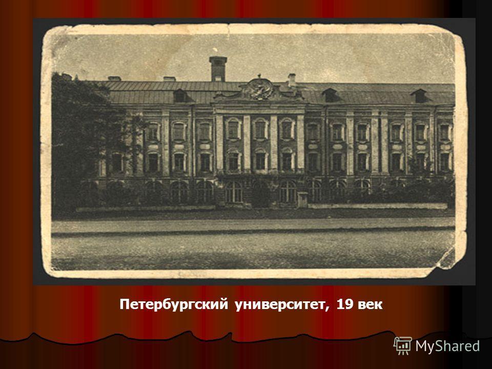 Петербургский университет, 19 век