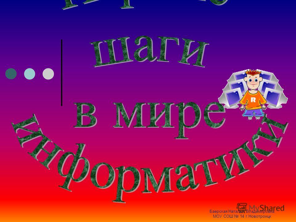 Баерская Наталья Владимировна МОУ СОШ 14 г.Новотроицк