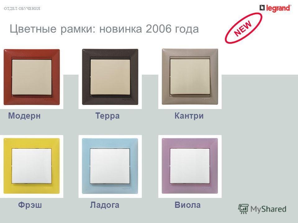 ОТДЕЛ ОБУЧЕНИЯ Цветные рамки: новинка 2006 года ЛадогаФрэшВиола МодернКантриТерра NEW