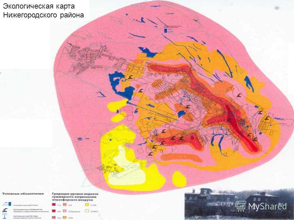 Экологическая карта Нижегородского района