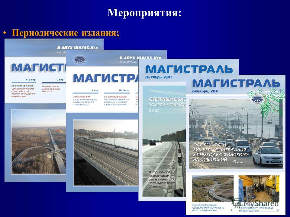 Мероприятия: Периодические издания;Периодические издания;