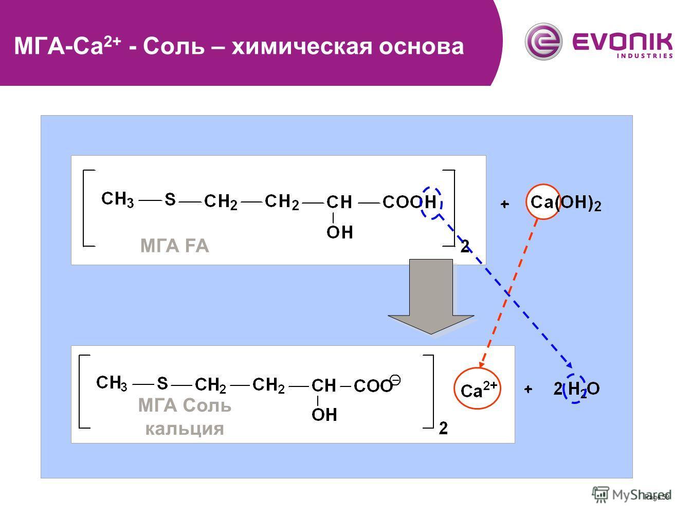 Page 59 МГА-Ca 2+ - Соль – химическая основа МГА FA МГА Соль кальция