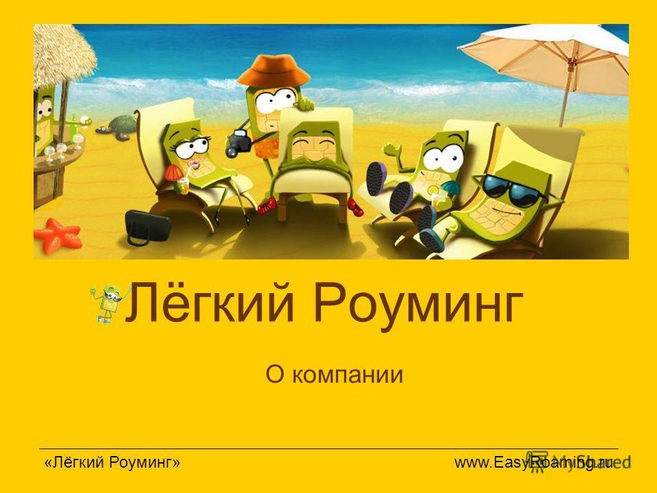 Лёгкий Роуминг «Лёгкий Роуминг» www.EasyRoaming.ru О компании