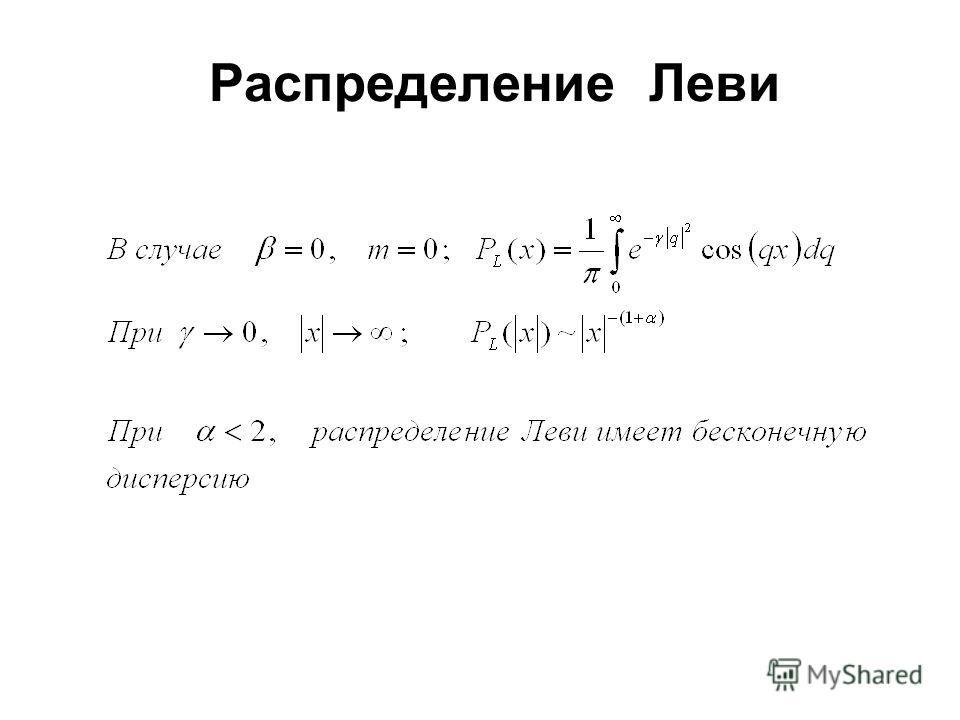 Распределение Леви