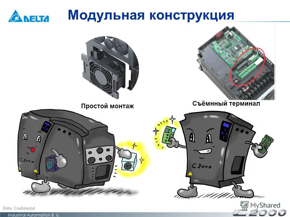 Delta Confidential Модульная конструкция Простой монтаж Съёмнный терминал