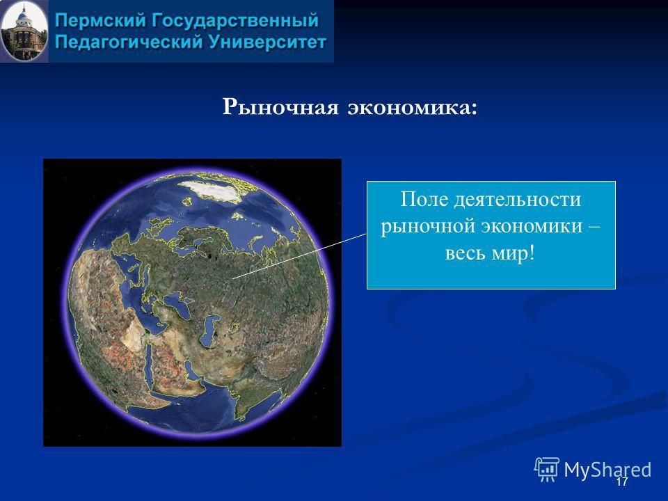 17 Рыночная экономика: Поле деятельности рыночной экономики – весь мир!