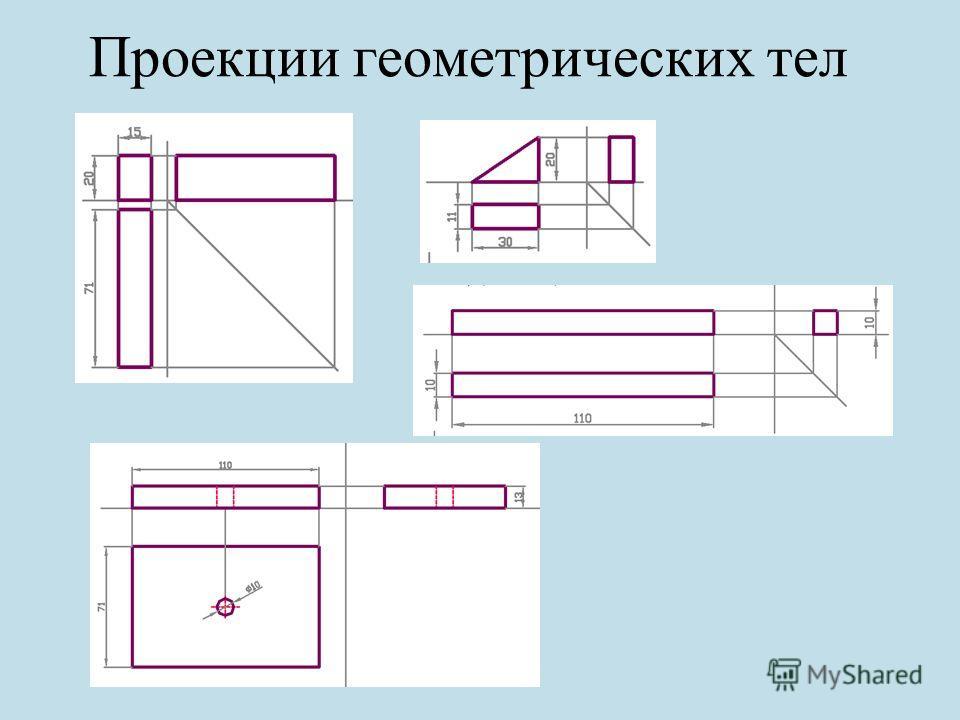 Проекции геометрических тел