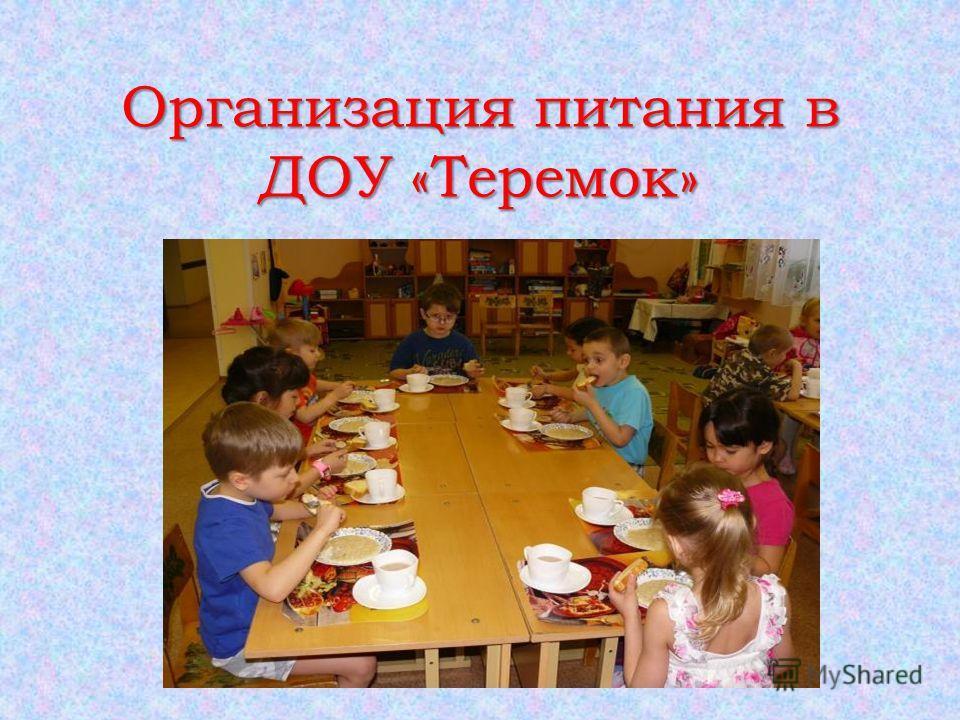 Организация питания в ДОУ «Теремок»