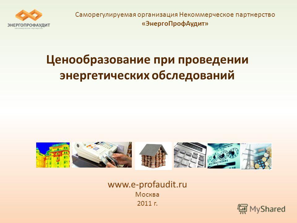 Ценообразование при проведении энергетических обследований www.e-profaudit.ru Москва 2011 г. Саморегулируемая организация Некоммерческое партнерство «ЭнергоПрофАудит»