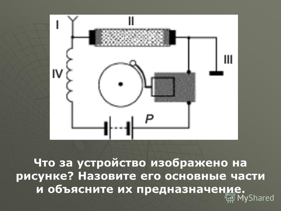 Что за устройство изображено на рисунке? Назовите его основные части и объясните их предназначение.