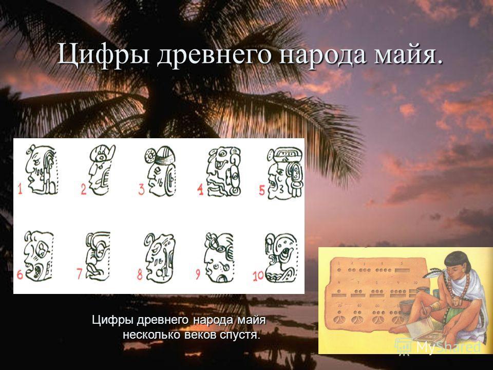 Цифры древнего народа майя. Цифры древнего народа майя несколько веков спустя.