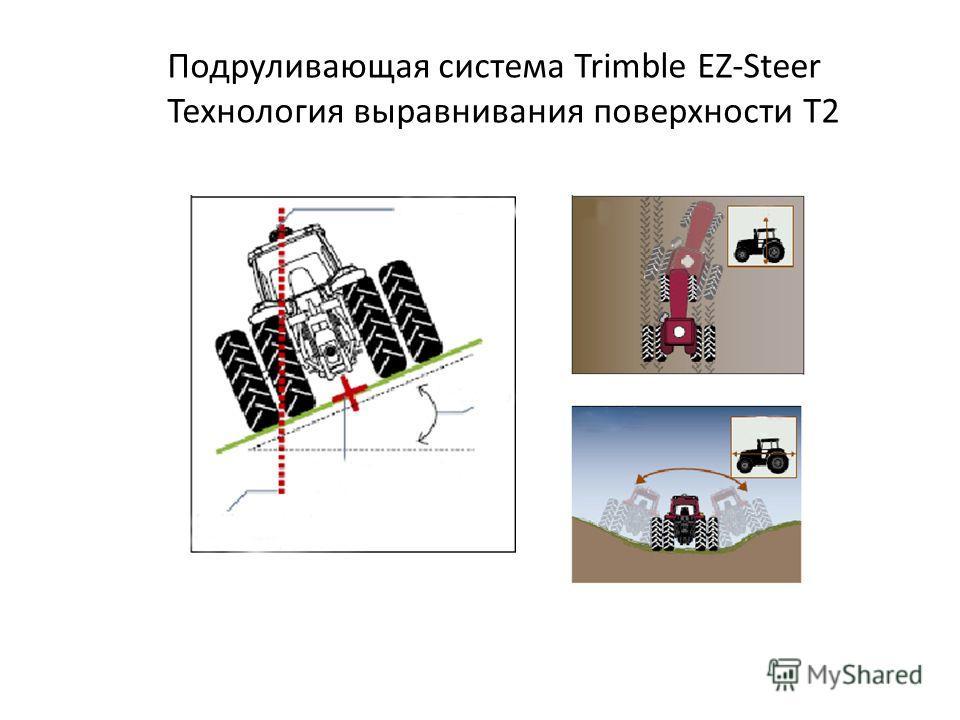 Подруливающая система Trimble EZ-Steer Технология выравнивания поверхности T2