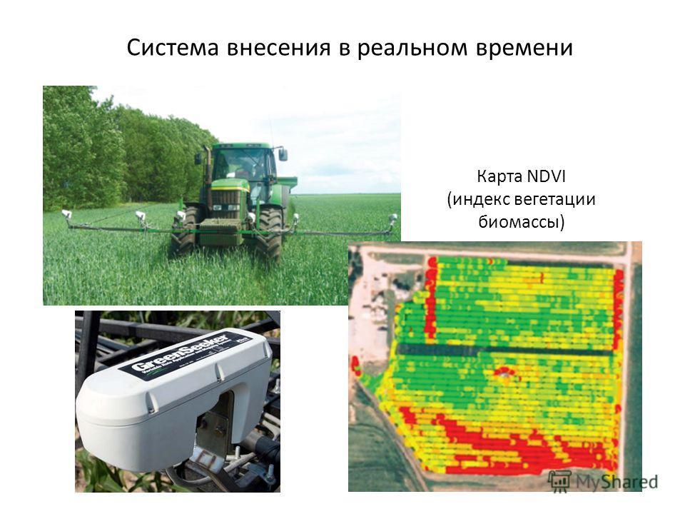Система внесения в реальном времени Карта NDVI (индекс вегетации биомассы)
