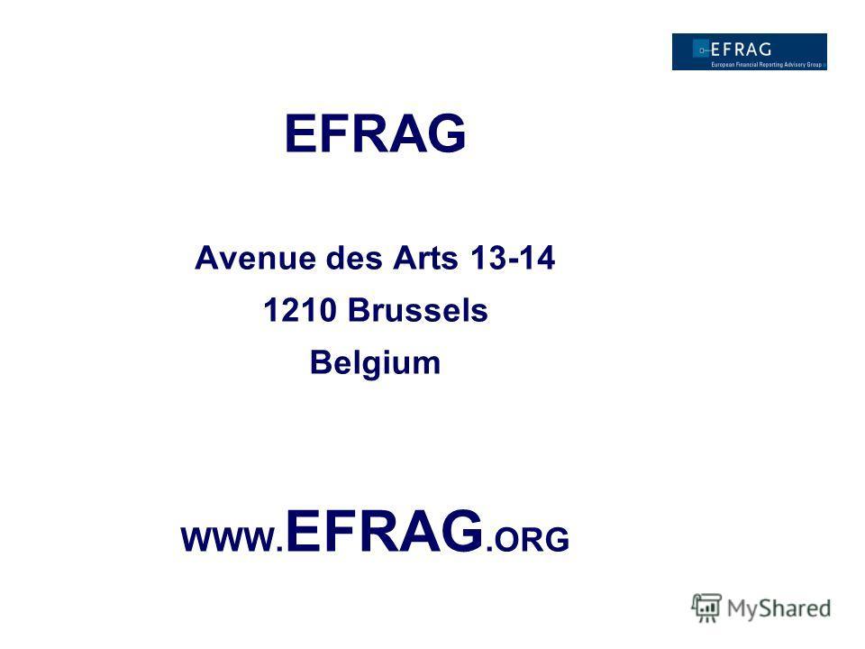EFRAG Avenue des Arts 13-14 1210 Brussels Belgium WWW. EFRAG.ORG
