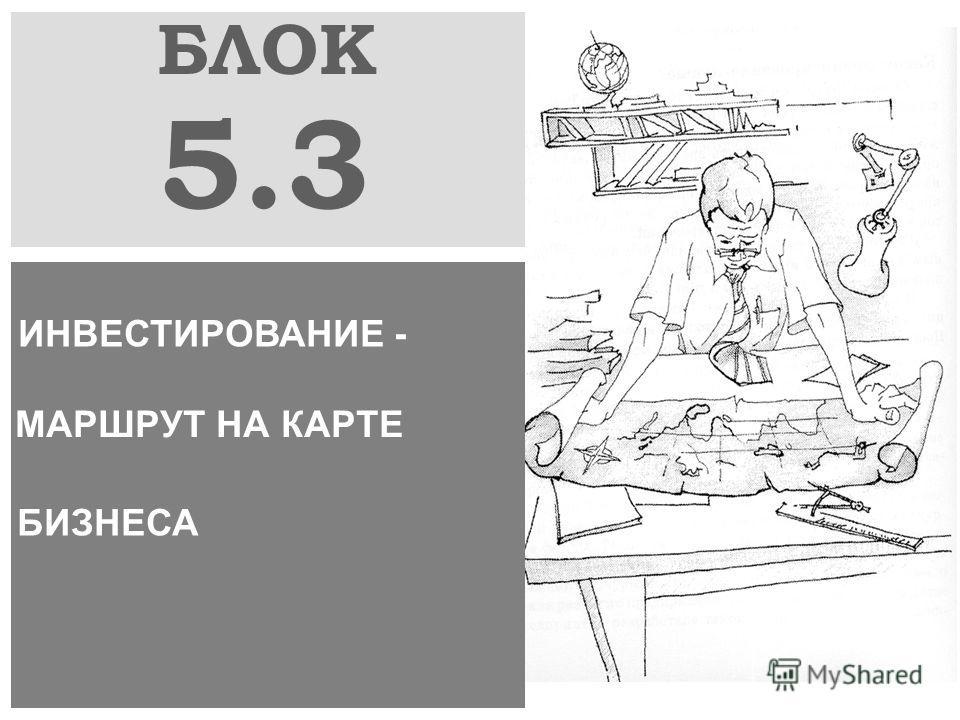 БЛОК 5.3 ИНВЕСТИРОВАНИЕ - МАРШРУТ НА КАРТЕ БИЗНЕСА