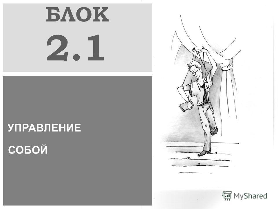 БЛОК 2.1 УПРАВЛЕНИЕ СОБОЙ
