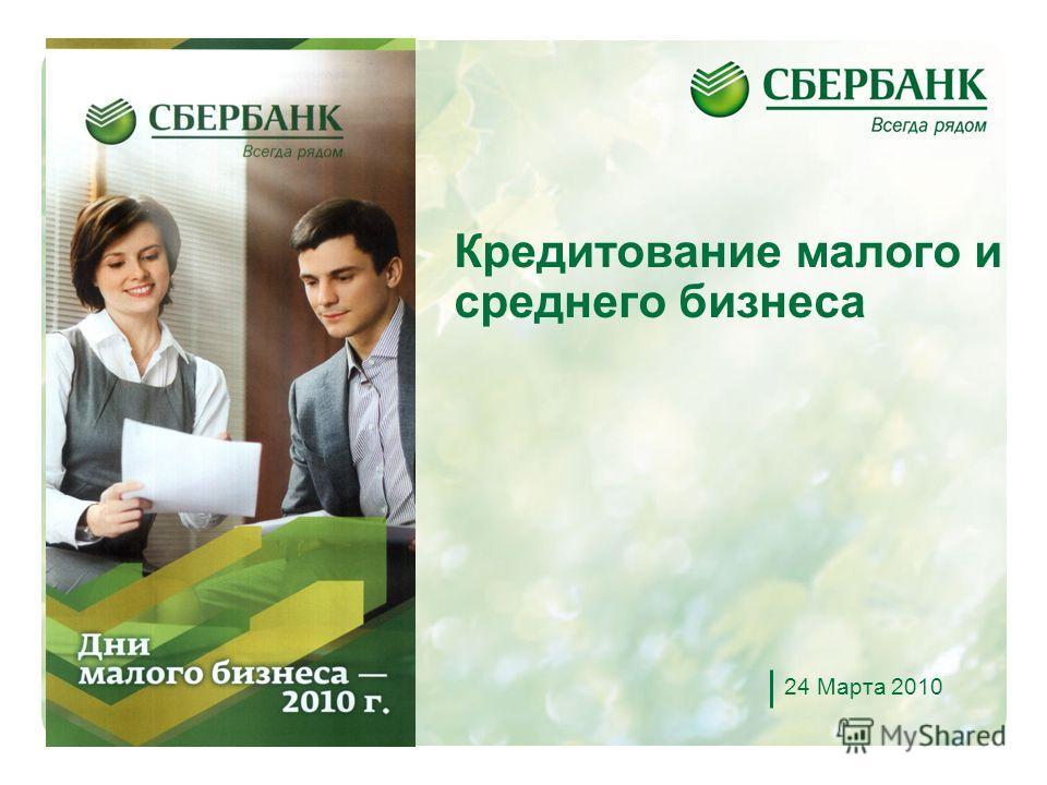 1 Кредитование малого и среднего бизнеса 24 Марта 2010
