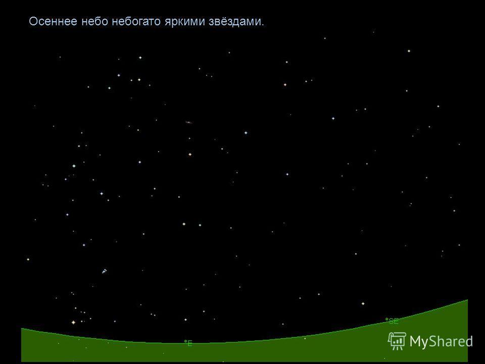 Осеннее небо небогато яркими звёздами.