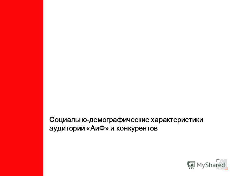 Социально-демографические характеристики аудитории «АиФ» и конкурентов