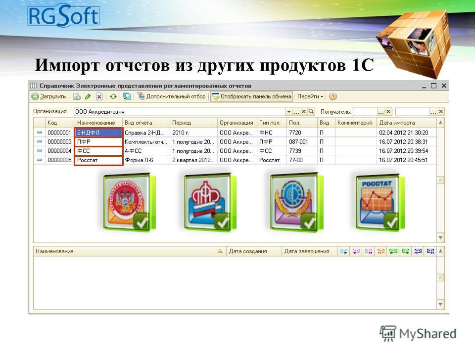 Импорт отчетов из других продуктов 1С