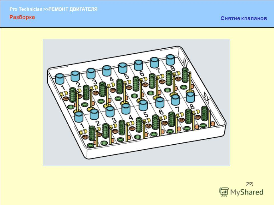 (1/2) Pro Technician >>РЕМОНТ ДВИГАТЕЛЯ (2/2) Разборка Снятие клапанов
