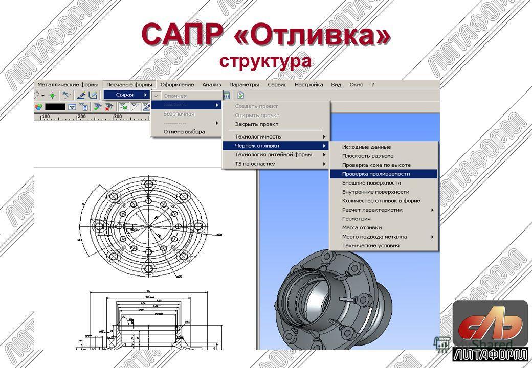 структура САПР «Отливка»