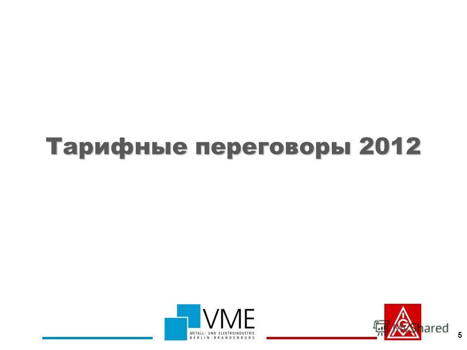 Тарифные переговоры 2012 5