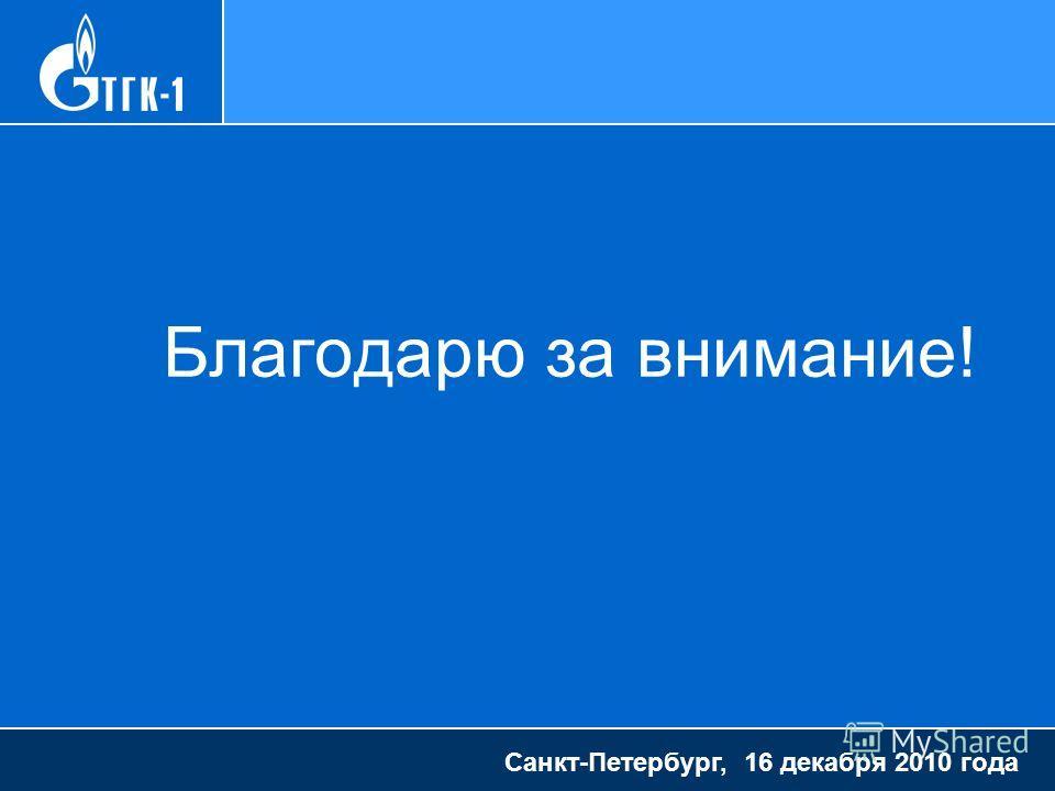 Благодарю за внимание! Санкт-Петербург, 16 декабря 2010 года