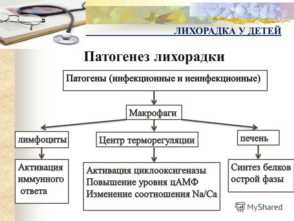 Патогенез лихорадки ЛИХОРАДКА У ДЕТЕЙ