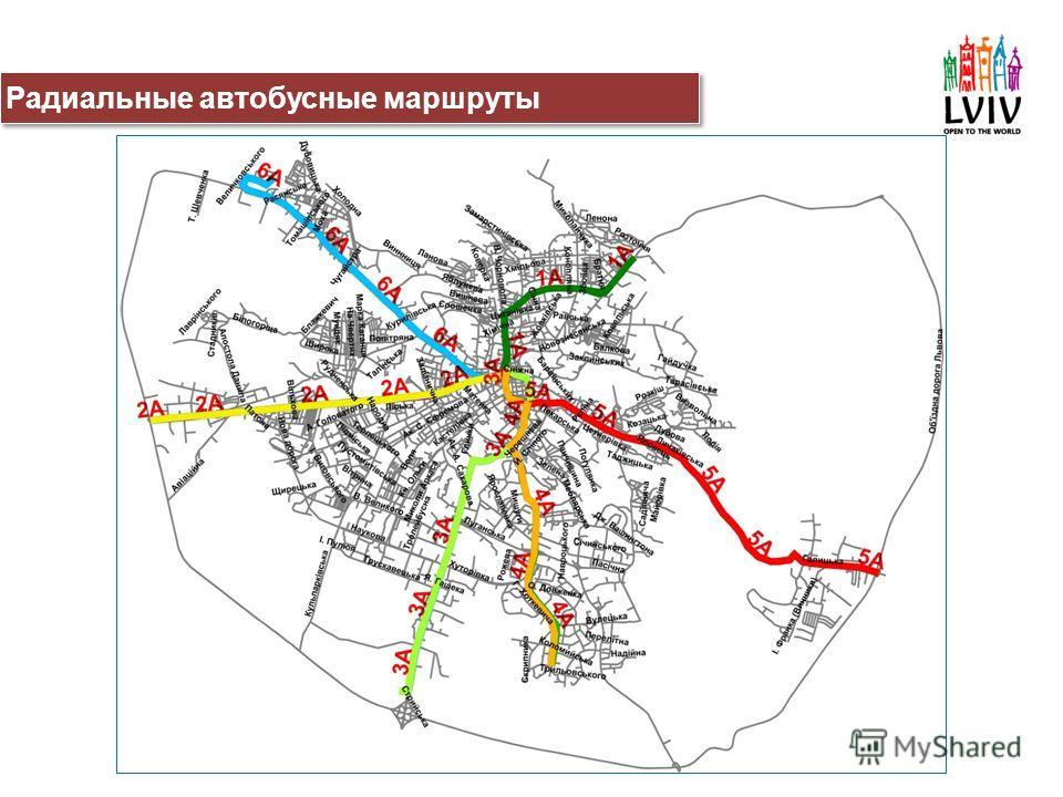 Радиальные автобусные маршруты