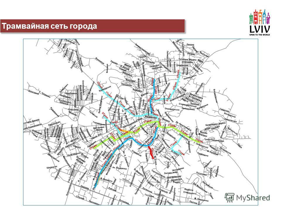 Трамвайная сеть города