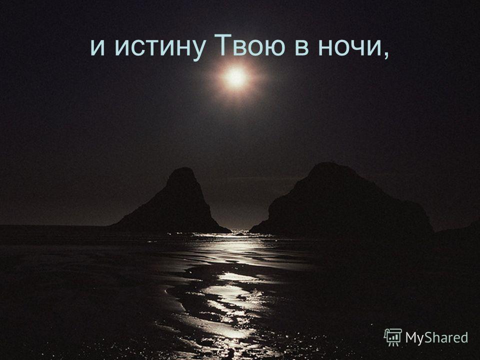 и истину Твою в ночи,