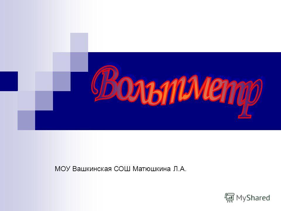 МОУ Вашкинская СОШ Матюшкина