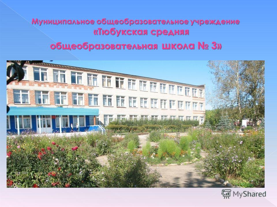 Муниципальное общеобразовательное учреждение «Тюбукская средняя общеобразовательная школа 3»