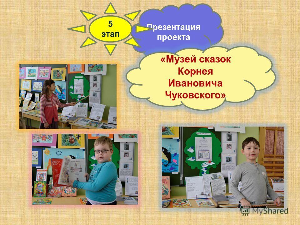 Презентация проекта 5 этап «Музей сказок Корнея Ивановича Чуковского»