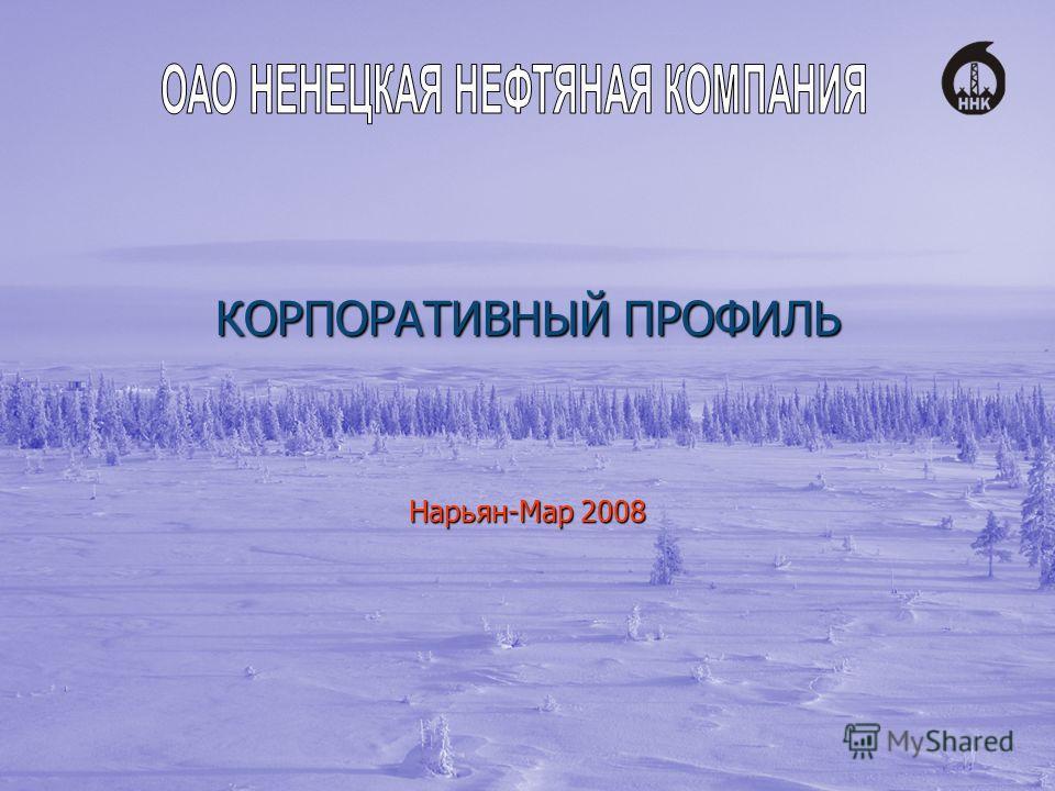 КОРПОРАТИВНЫЙ ПРОФИЛЬ Нарьян-Мар 2008