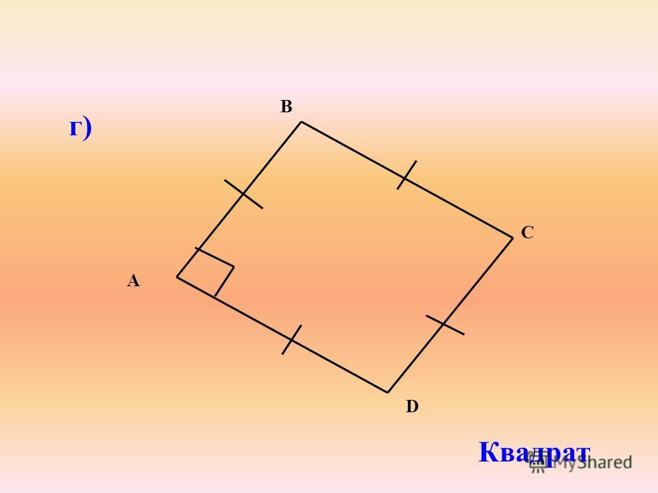 г) Квадрат B A C D