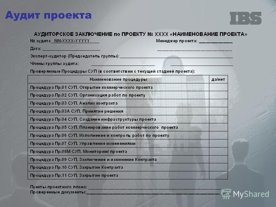 Аудит проекта