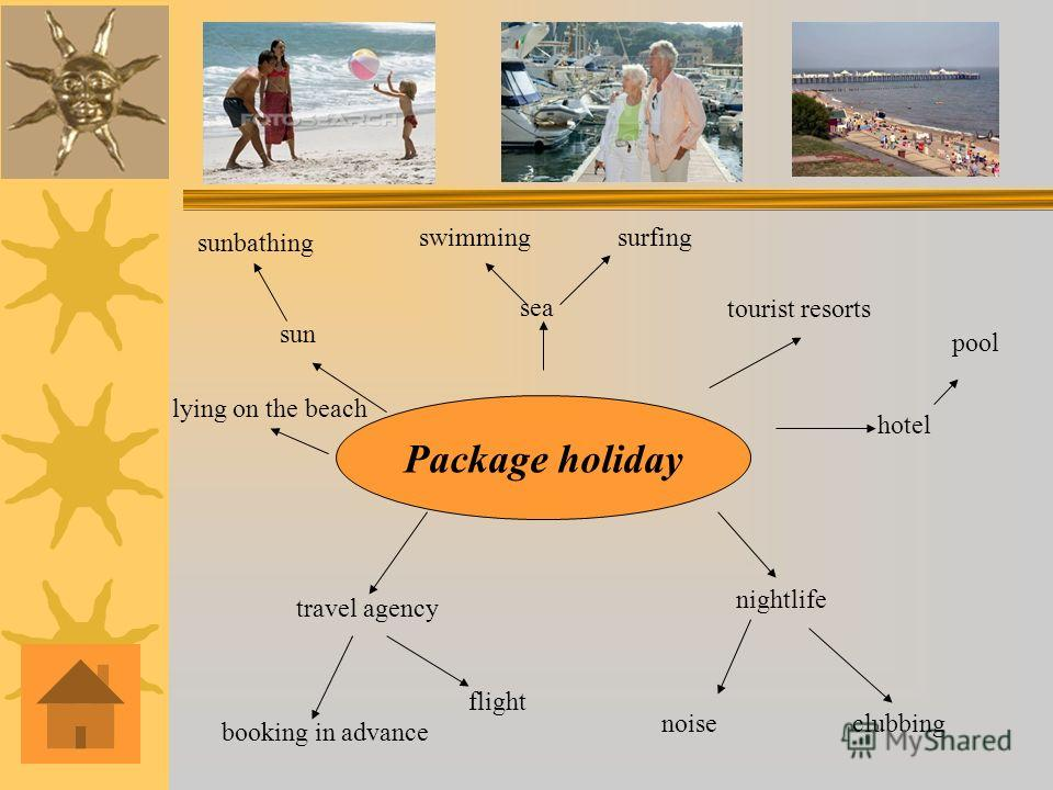 sun sunbathing sea Package holiday surfingswimming tourist resorts hotel pool nightlife clubbing booking in advance travel agency noise flight lying on the beach