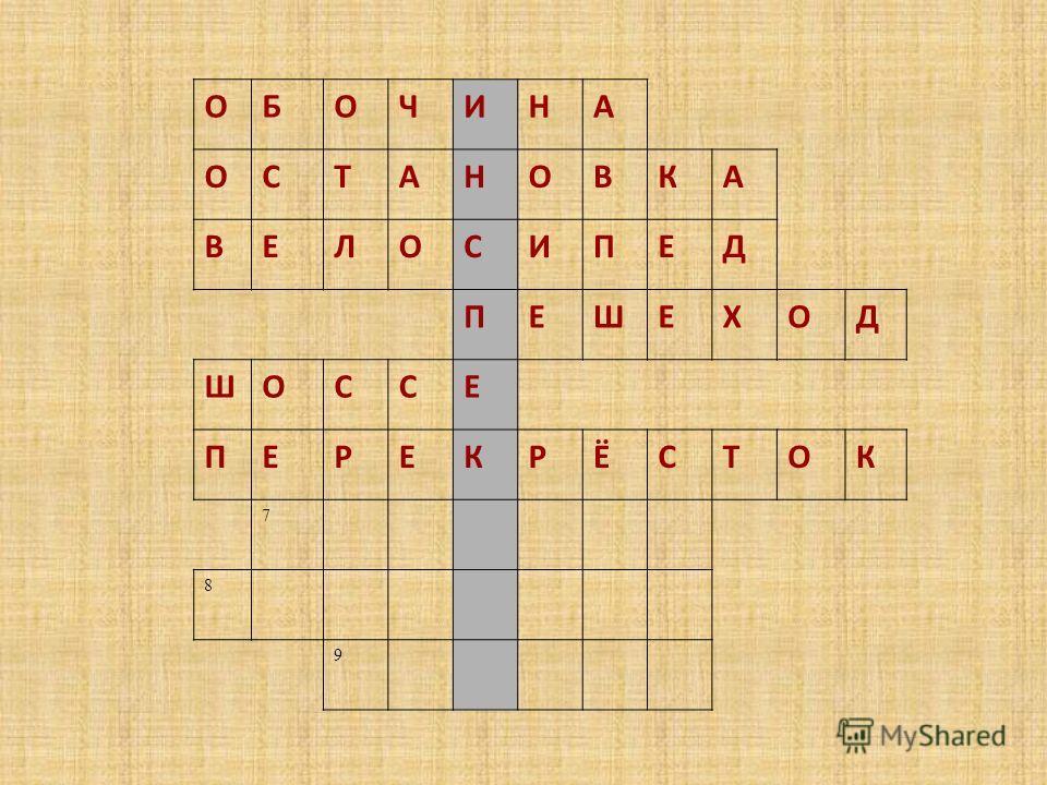 ОБОЧИНА ОСТАНОВКА ВЕЛОСИПЕД ПЕШЕХОД ШОССЕ ПЕРЕКРЁСТОК 7 8 9
