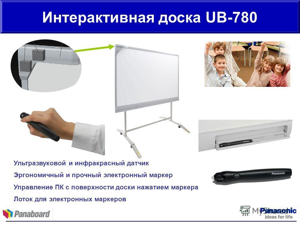 Интерактивная доска UB-780 Ультразвуковой и инфракрасный датчик Эргономичный и прочный электронный маркер Управление ПК с поверхности доски нажатием маркера Лоток для электронных маркеров