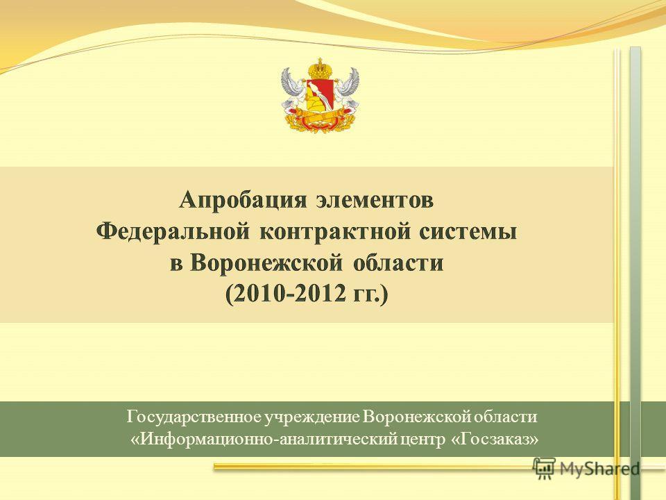 Государственное учреждение Воронежской области «Информационно-аналитический центр «Госзаказ»