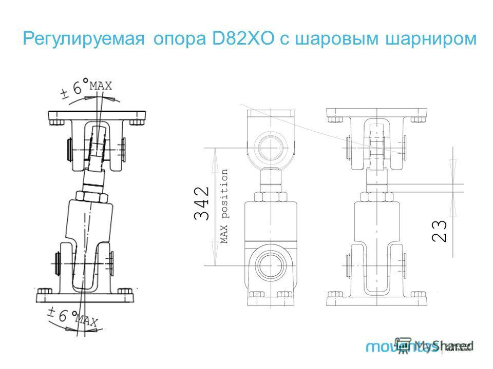 Регулируемая опора D82XO с шаровым шарниром