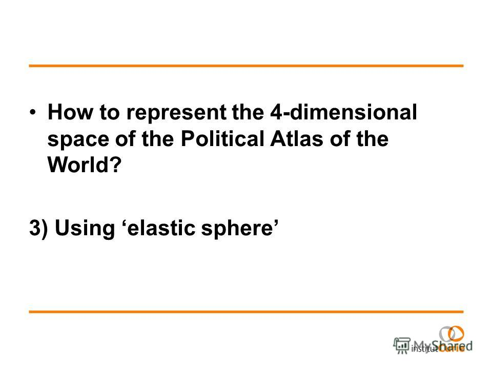 How to represent the 4-dimensional space of the Political Atlas of the World? 3) Using elastic sphere