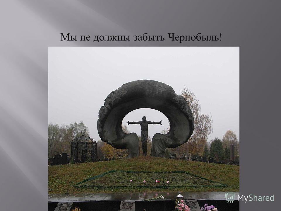 Мы не должны забыть Чернобыль!