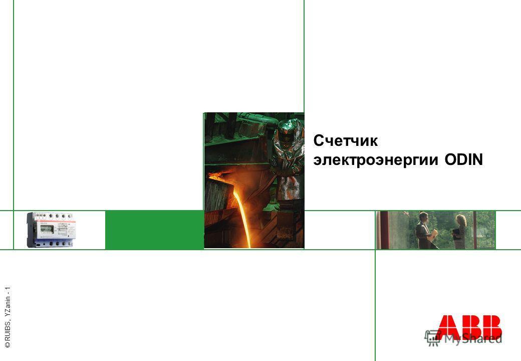 © RUIBS, YZanin - 1 Счетчик электроэнергии ODIN