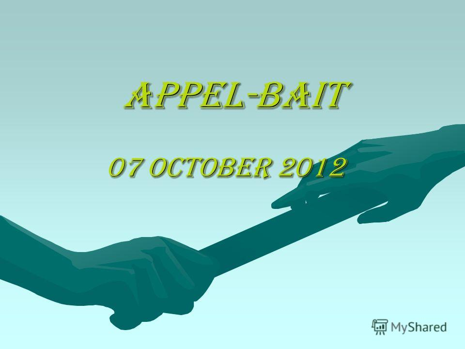 appel-Bait 07 October 2012 07 October 2012