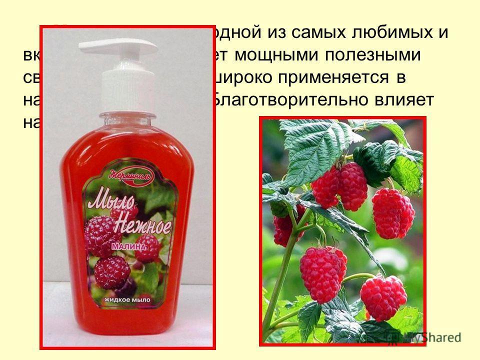 Малина Малина, являясь одной из самых любимых и вкусных ягод, обладает мощными полезными свойствами. Малина широко применяется в народной медицине. Благотворительно влияет на кожу рук.